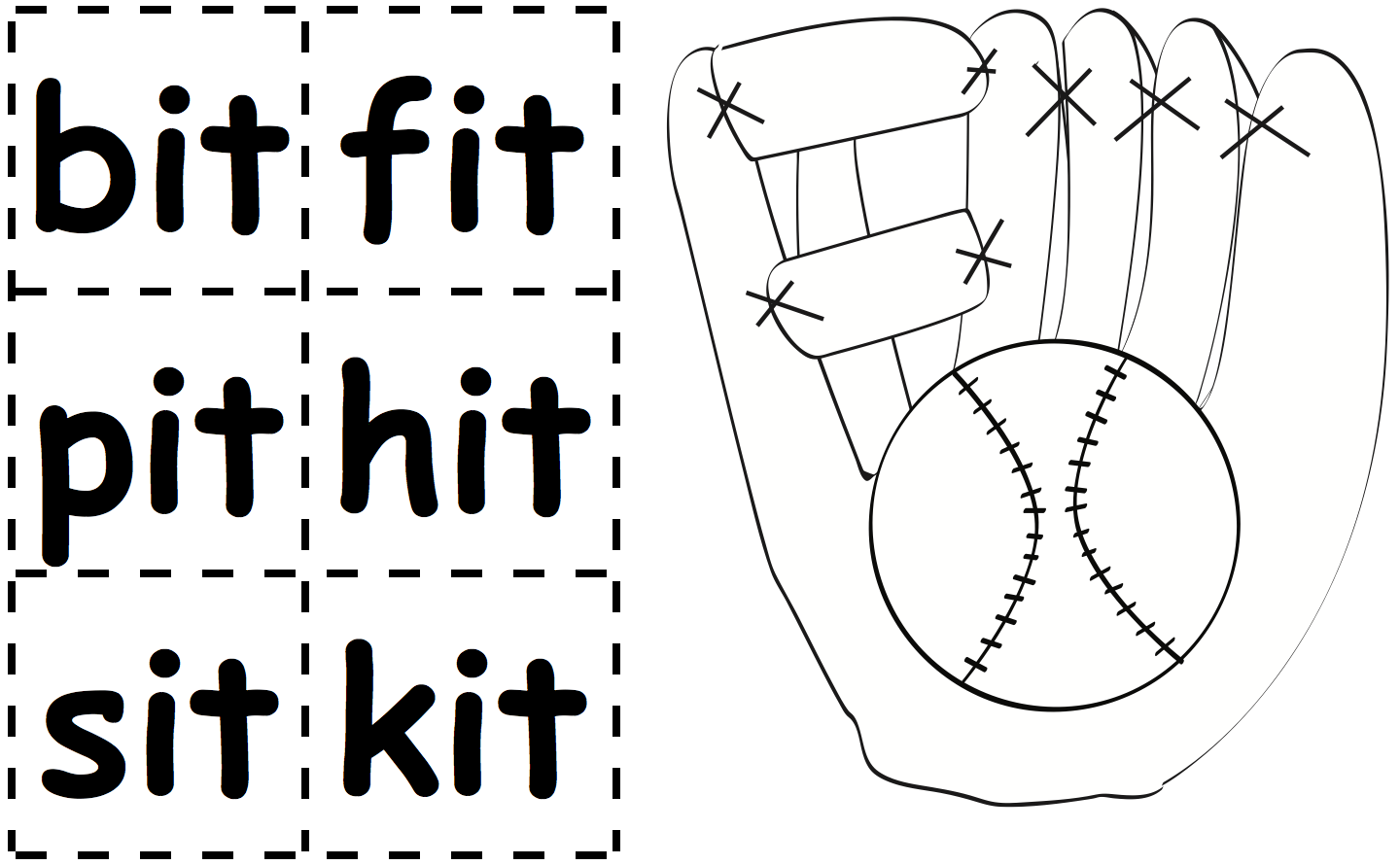 baseball-mitt-graphic-and-it-word-cards