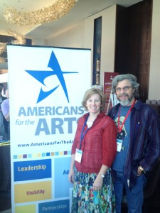 Cally Fox (left) attended the Americans For The Arts conference