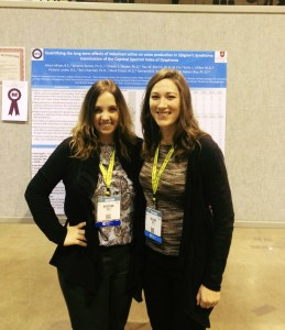 Dr. Kristine Tanner with her research assistant Alison Miner