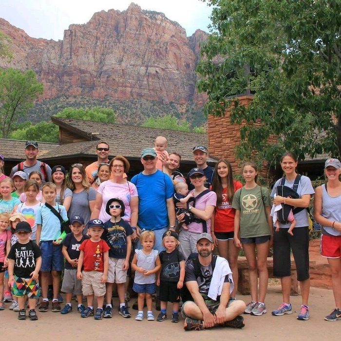 Vance and his family on a vacation at Zion National Park