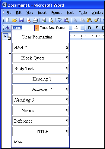 how to change heading styles in word