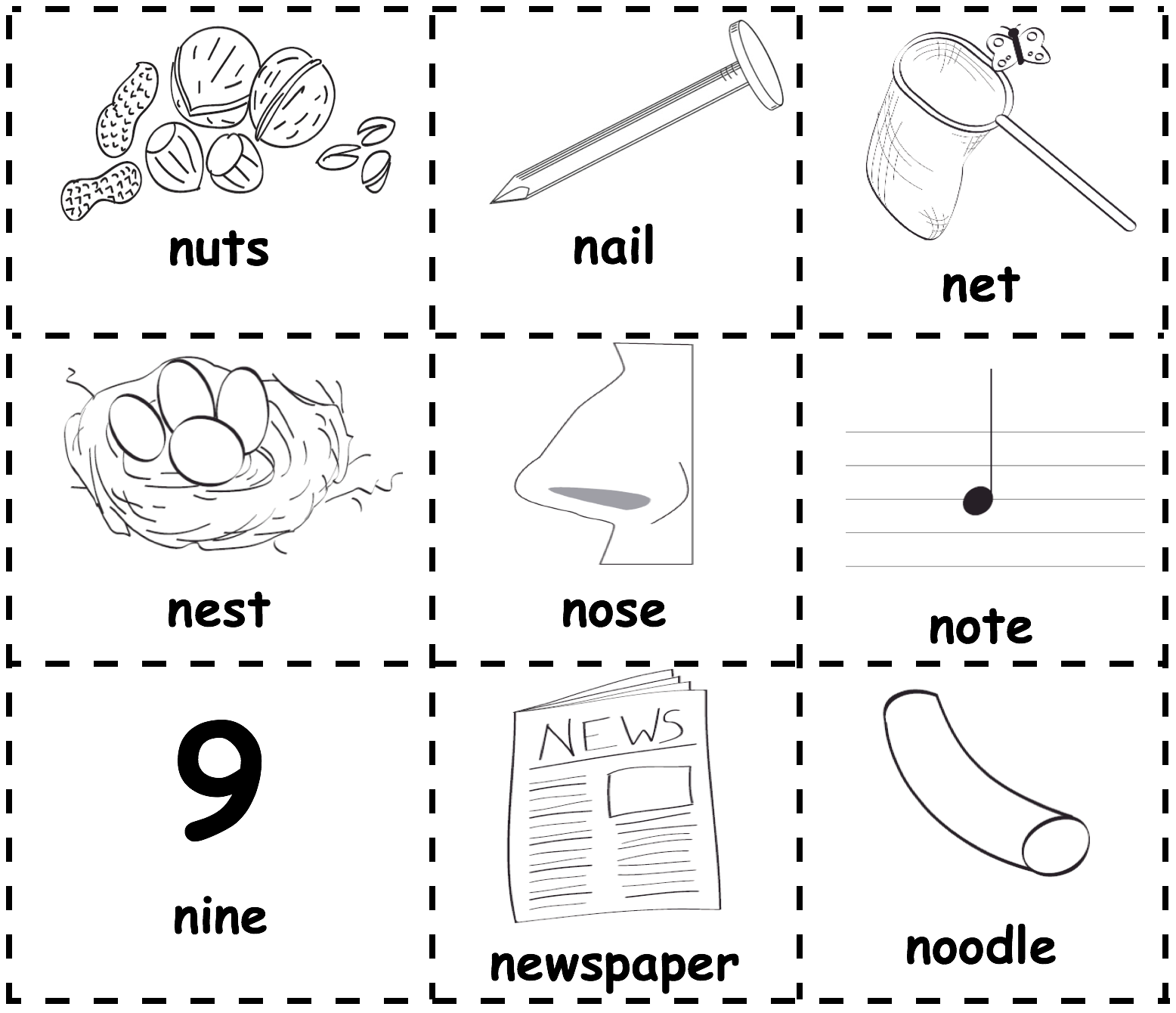 N Picture Word Cards