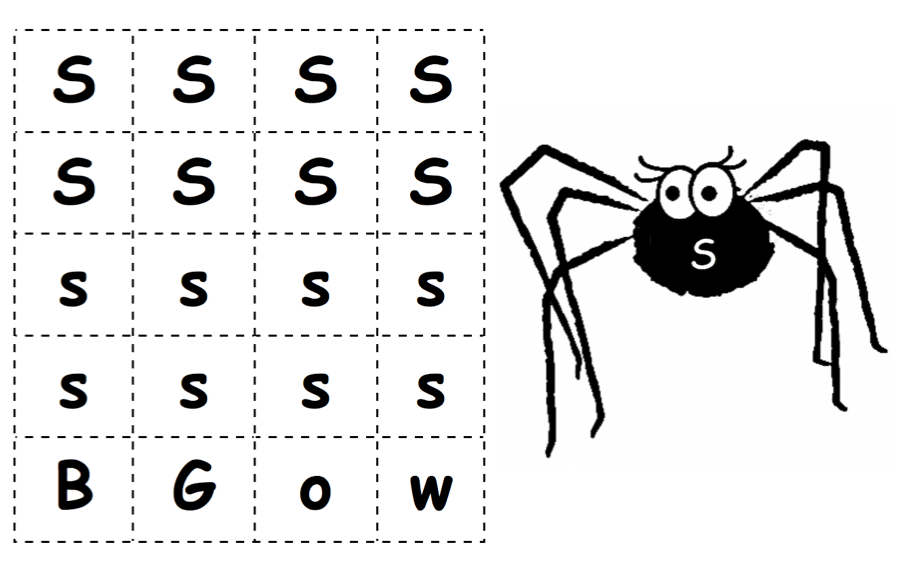 Letter Cards and Spider