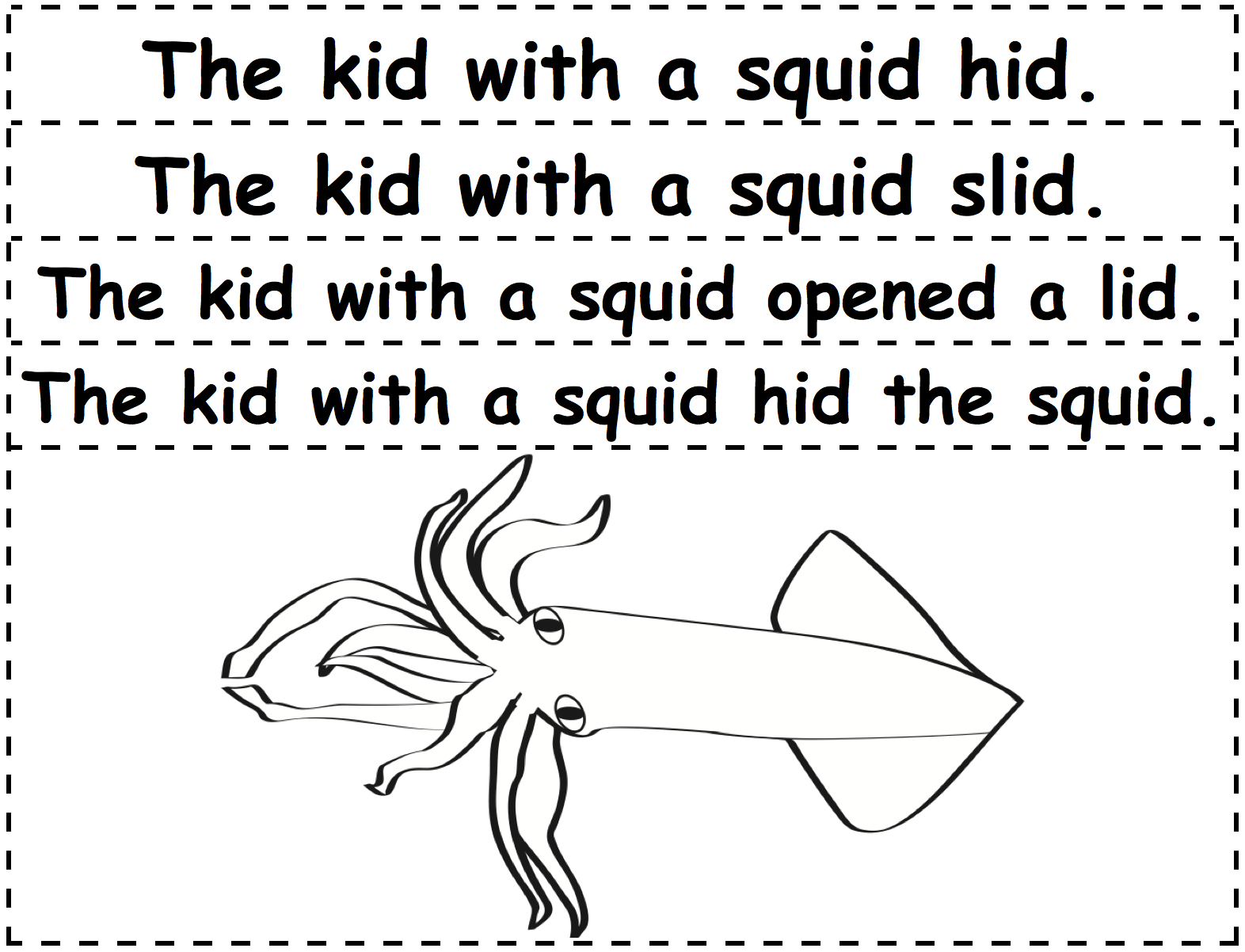 Sentence-Strips-and-Squid